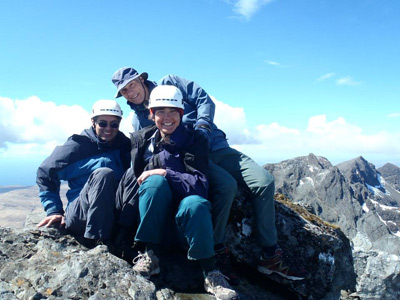17th On the summit of Sgurr Alasdair