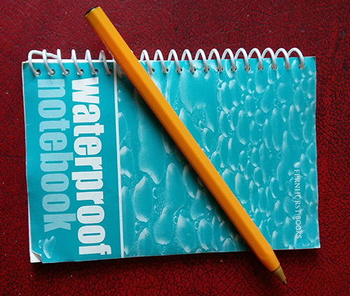 b waterproof notepad